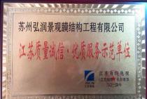 江苏质量诚信优质服务示范单位