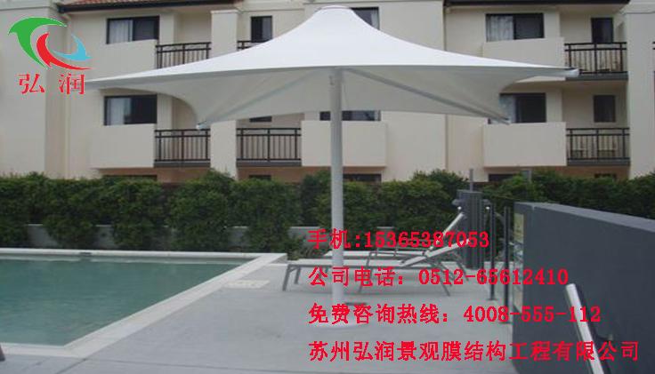 上海酒店游泳池膜结构